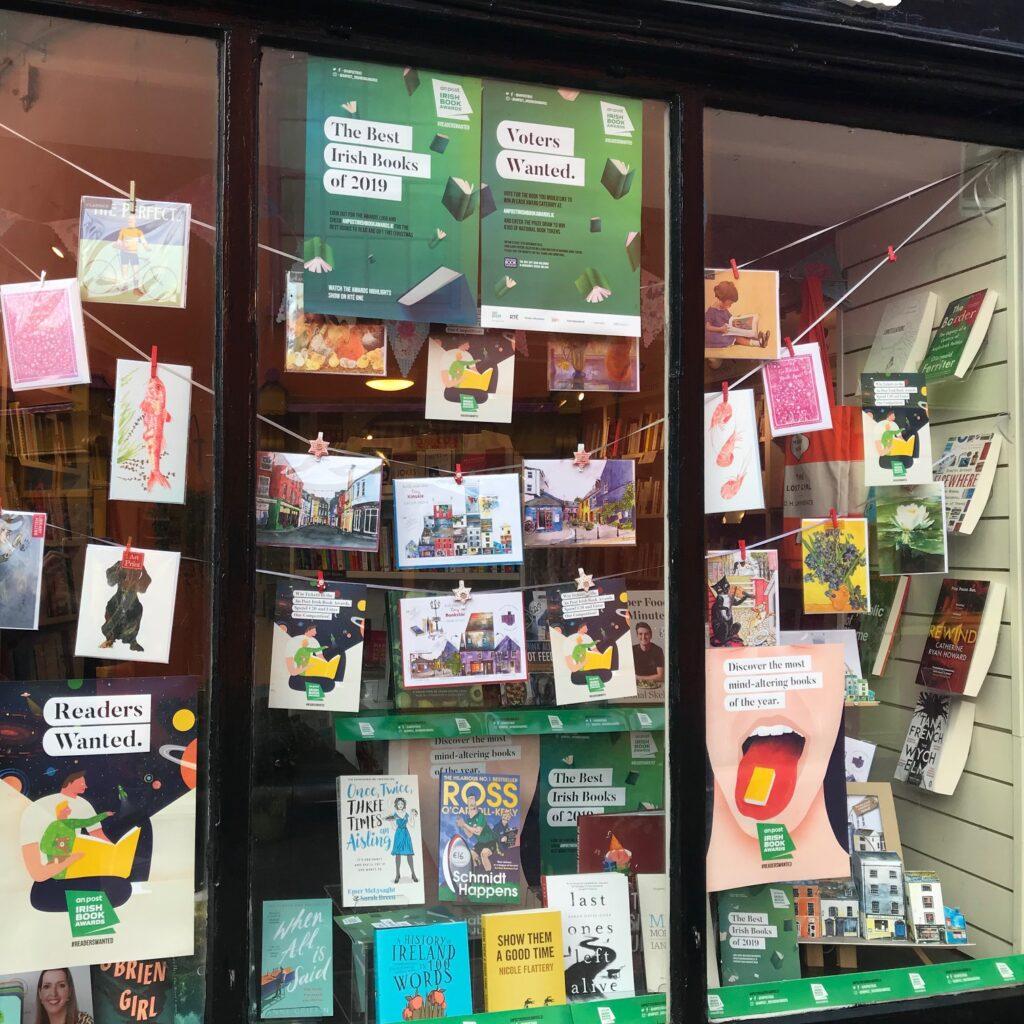 Bookstor Irish Book Week Window Display